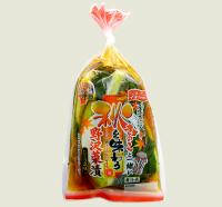 きのこと一緒に秋を味わう野沢菜漬たまり風味
